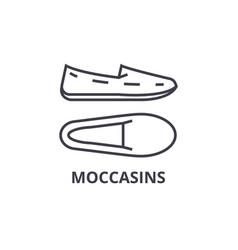 moccasins line icon outline sign linear symbol vector image vector image