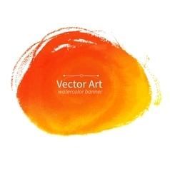 Orange hand drawn stain vector image