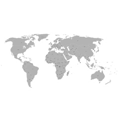 Political world map on white background vector image vector image