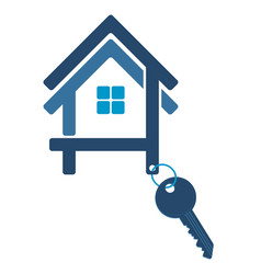 silhouette of the house with a key vector image vector image