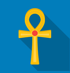 ankh icon in flat style isolated on white vector image
