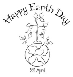 collection happy earth day design vector image vector image