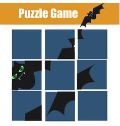 Educational children game puzzle kids activity vector