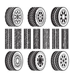racing wheels and their protector shapes vector image vector image