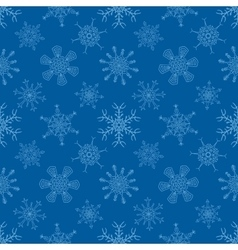Seamless Christmas blue pattern with drawn vector image