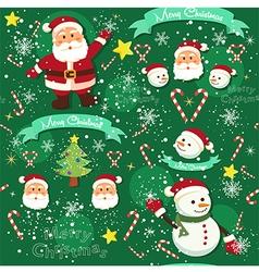 Seamless Pattern Christmas Green vector image