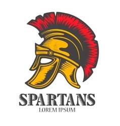 Spartan helmet isolated on white background vector image vector image