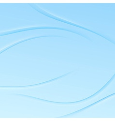 Transparent blue swoosh waves background vector image