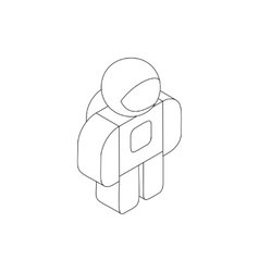 Astronaut in spacesuit icon isometric 3d style vector image