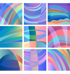 background smooth abstract design set vector image vector image