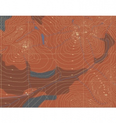 contour map vector image