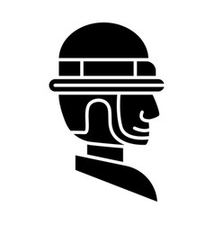 foreman icon black sign on vector image