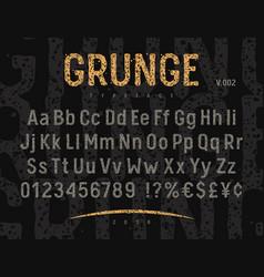 grunge font 002 vector image vector image