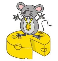 mouse champion vector image vector image