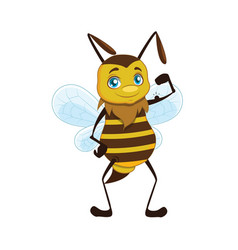 a bee showing off his strength vector image