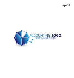 abstract logo accounting vector image