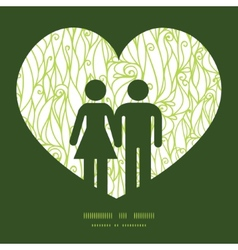 abstract swirls texture couple in love silhouettes vector image