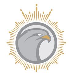 angry eagle mascot vector image