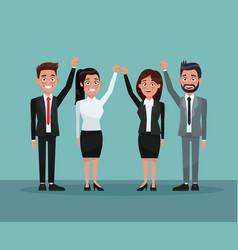 background scene set people in formal suit vector image