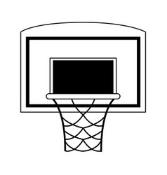 basketball backboard and hoop icon image vector image