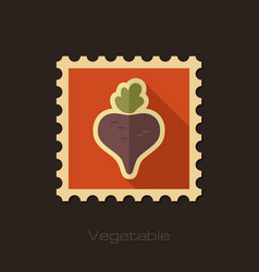 Beet flat stamp vegetable vector