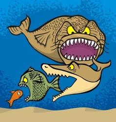 Big fish eats small vector