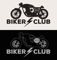 Biker club logo set vector