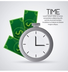 Bills and chronometer design vector