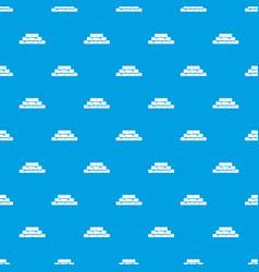 brickwork pattern seamless blue vector image