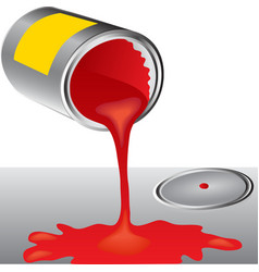 Cans of red paint vector image