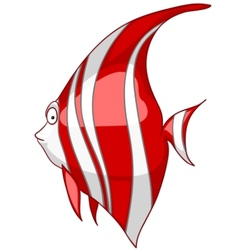 cartoon character fish vector image vector image