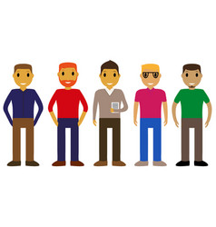 cartoon people on a white background vector image