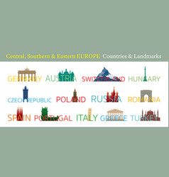 central southern and eastern europe countries vector image