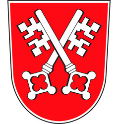 Coat of arms of regensburg in upper palatinate in vector