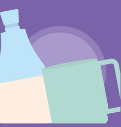 coffee mug design vector image