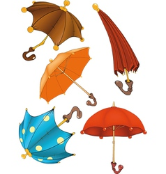 Complete set of umbrellas vector image