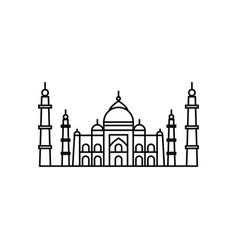 Concept of taj mahal icon vector