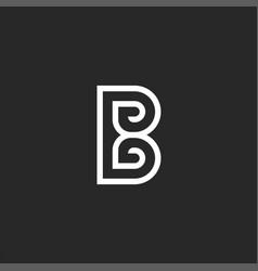 Creative letter b logo monogram design mockup vector