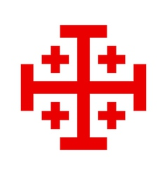 Cross of the Holy Sepulchre Order vector image