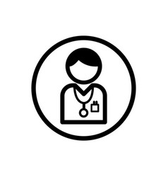 Doctor icon on a white background vector