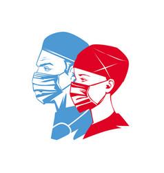 doctor superheroes portrait vector image