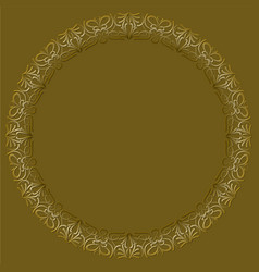 Filigree lace patterns luxurious art deco design vector