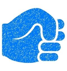 Fist Grainy Texture Icon vector image