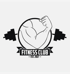 fitness club gym logo vector image