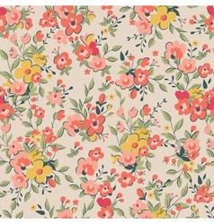 Floral pattern pink background vector