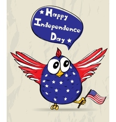 Funny patriotic bird vector
