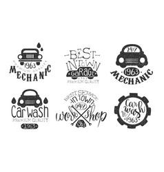 garage best in town premium quality retro labels vector image