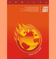 global warming creative design vector image