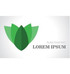 green leaf bastract 3d logo vector image
