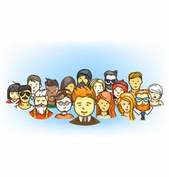group modern people cute cartoon people vector image